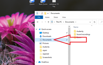 Where is My Documents in the Windows 10 start menu?